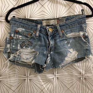 Levi's Super Distressed Jean Shorts
